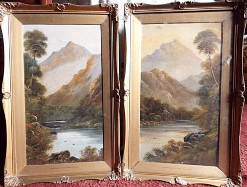 Alfred De Breanski Snr RBA. Oil on boards (A Pair)
