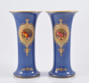 Worcester fruits vases