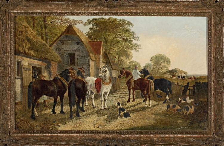 John Fredercik Herring, Younger. Large Oil on Canvas