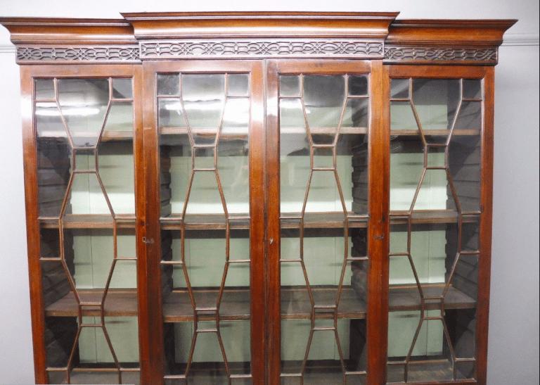 Victorian Library four door breakfront bookcase