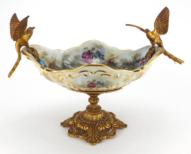Victorian Porcelain centrepiece decorated with doves