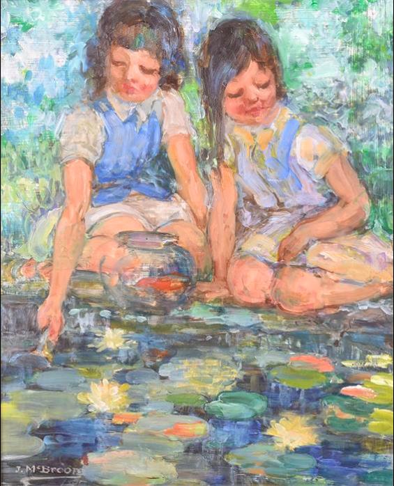 J McBroom. Scottish School 'Girls in the Glades', 1957.