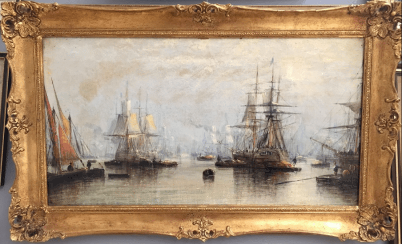 Attributed to Clarkson Frederick Stanfield, R.A. (1793-1867): Oil on canvas