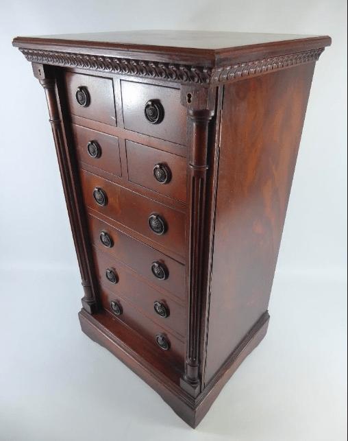 Unusual Victorian Mahogany Wellington chest