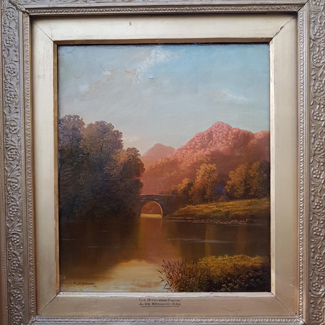 Alfred Fontville De Breanski. Oil on canvas