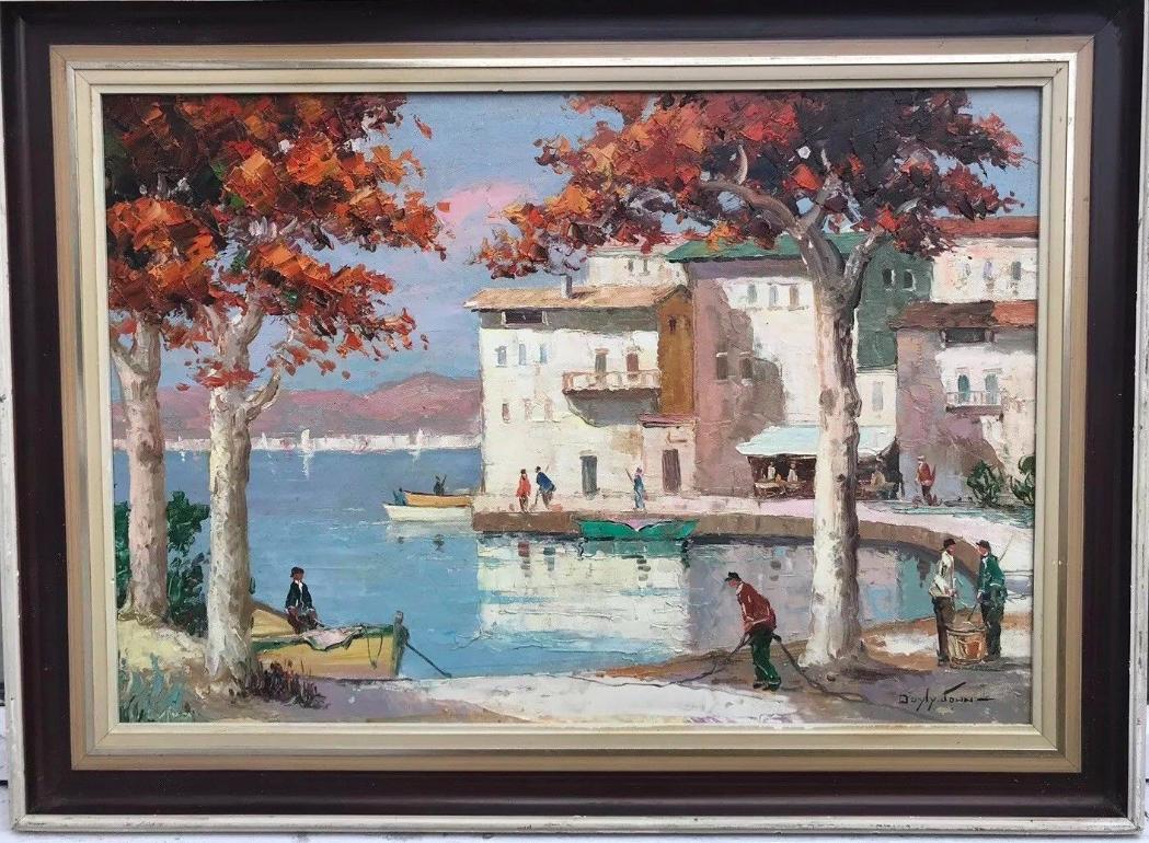 Cecil Rochfort Doyly John. St Tropez Harbour.