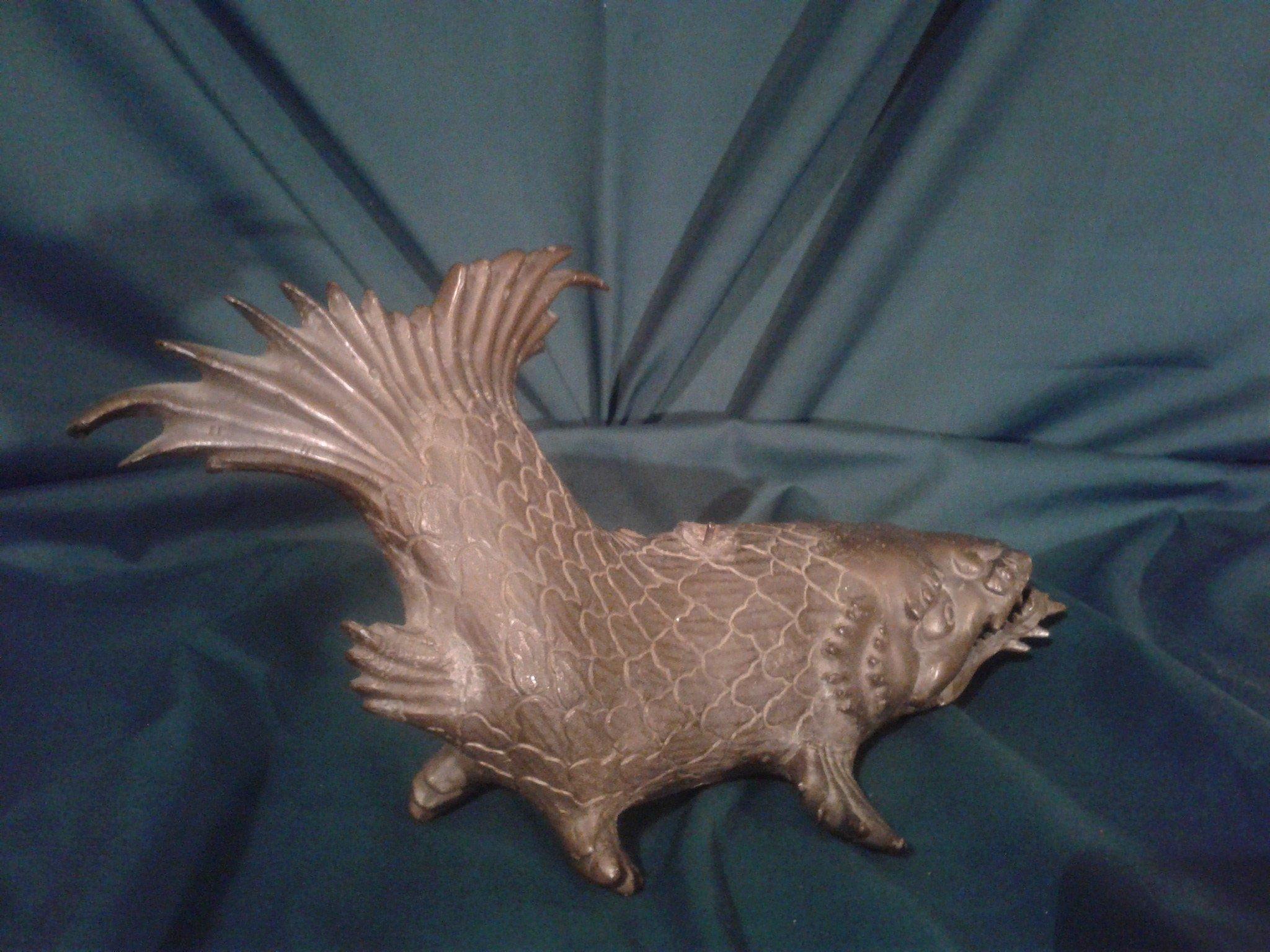 Antique Chinese bronze catfish