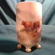 Worcester vase Highland cattle by, Harry Stinton