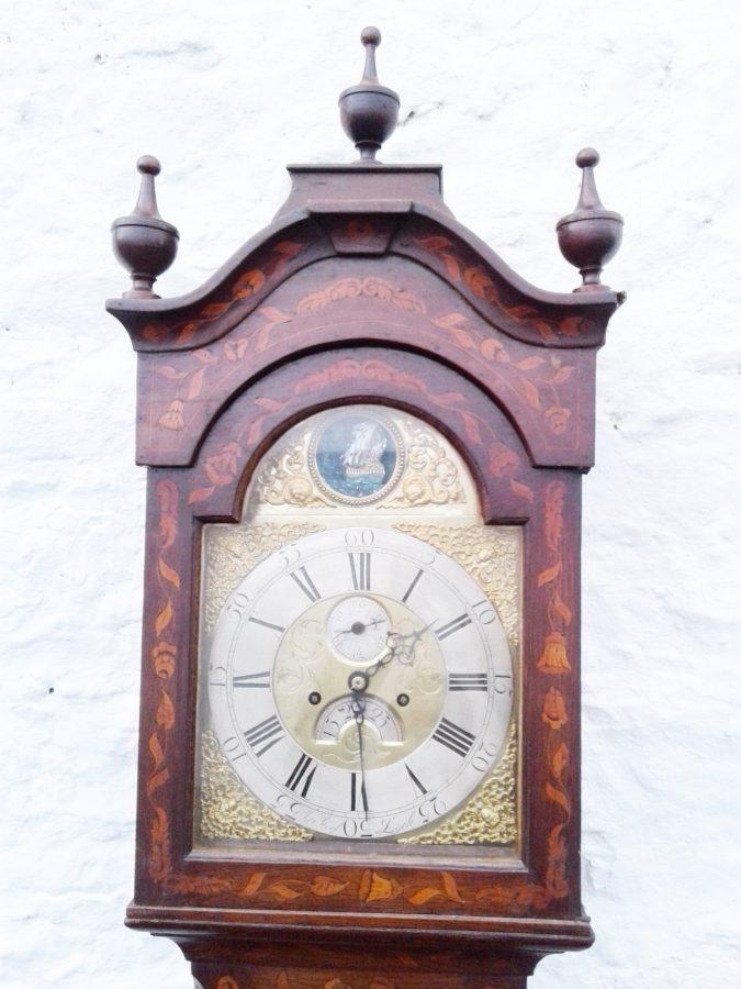 18th c Marquetry Automaton longcase clock