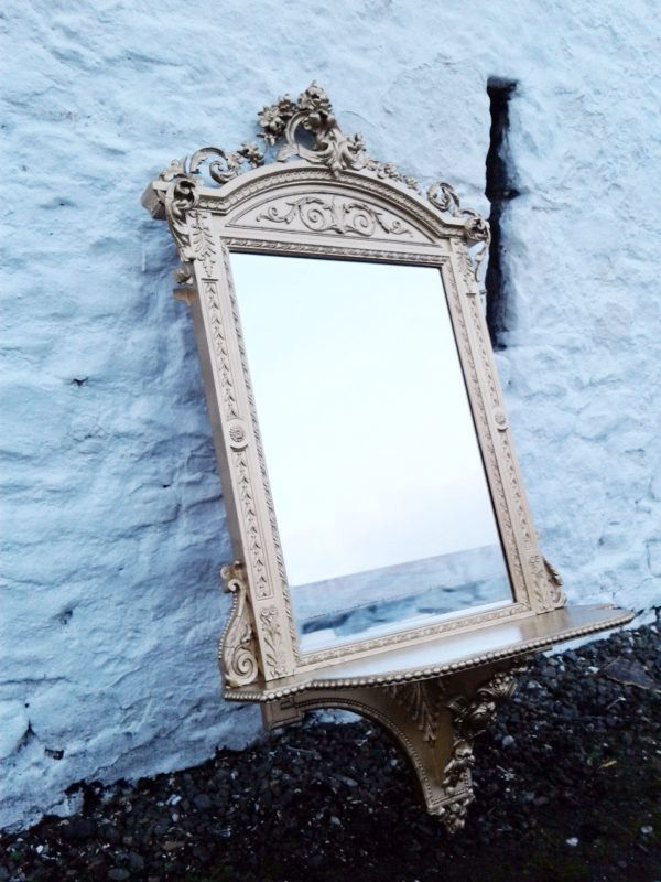 19th century French portrait gilt mirror