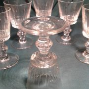 Set of six Victorian sherry glasses