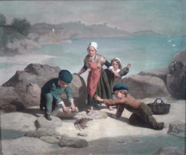 Eugene Francois Fines oil on canvas