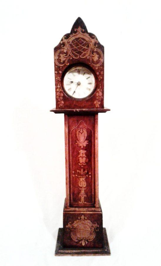 Edwardian mahogany miniature longcase clock