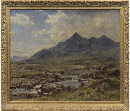 HERBERT F ROYLE (Scottish 1870 -1958), SGURR NAN GILLEAN, SKYE