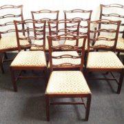 Victorian set of 8 mahogany Ladder back chairs