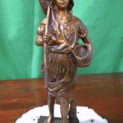 Fine 19th century Bronze figure of farmer boy