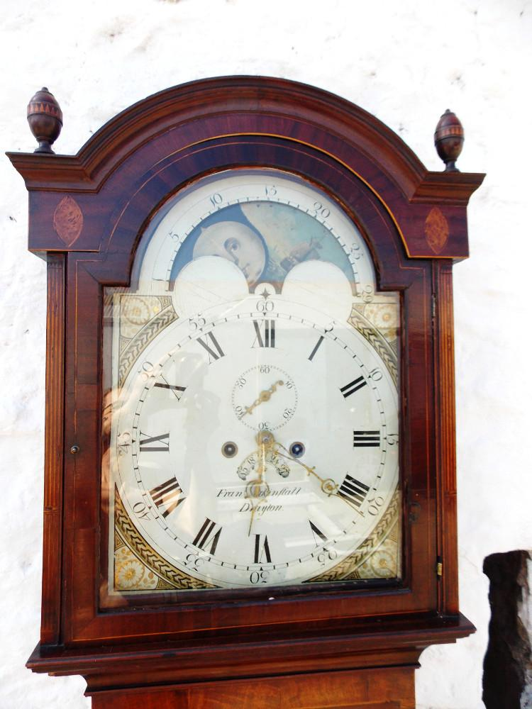 Regency period Mahogany Moon dial longcase Clock