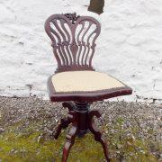 Edwardian mahogany Swivel chair