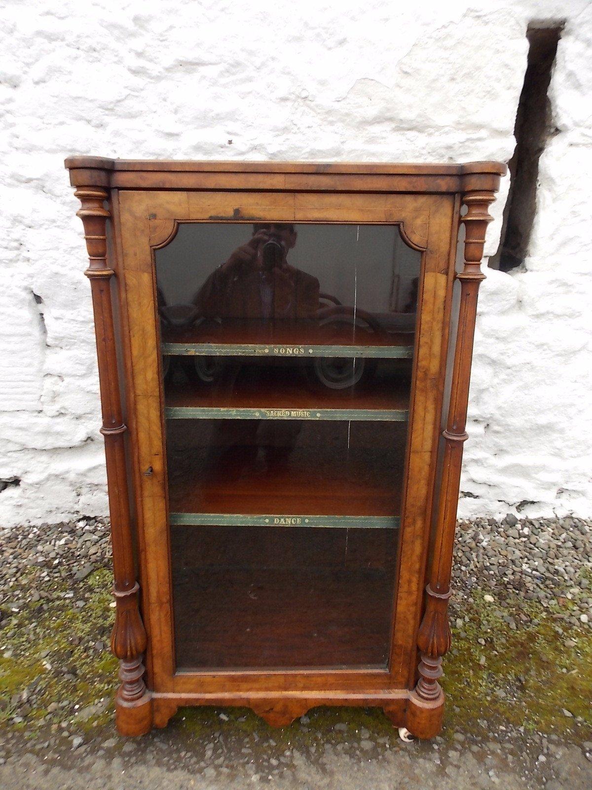Victorian Burr Walnut Music Cabinet Antique Furniture Online