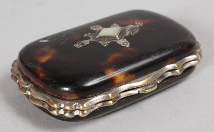 Victorian tortoiseshell purse