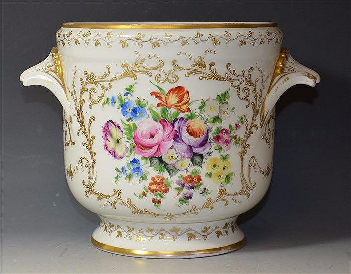 19th cent French Paris Porcelain wine cooler, circa 1880