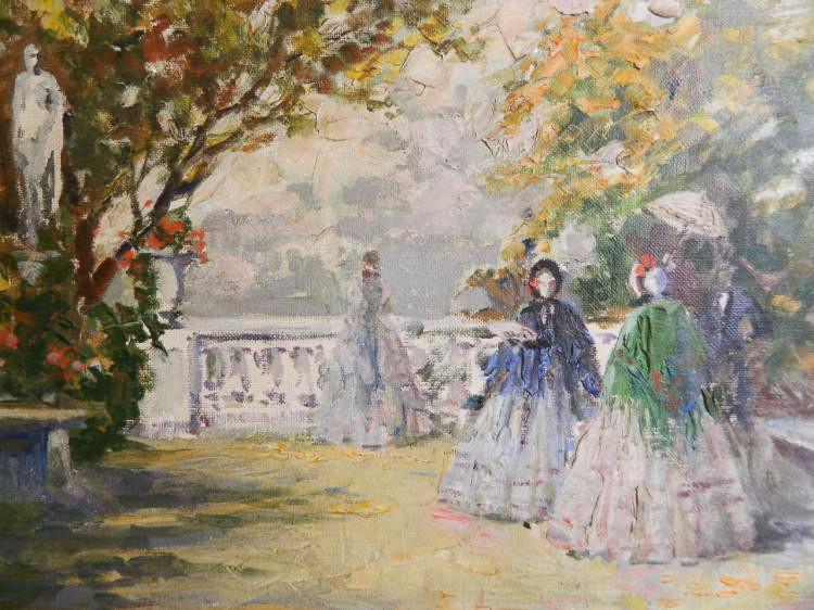 French post impressionist Parisian Garden