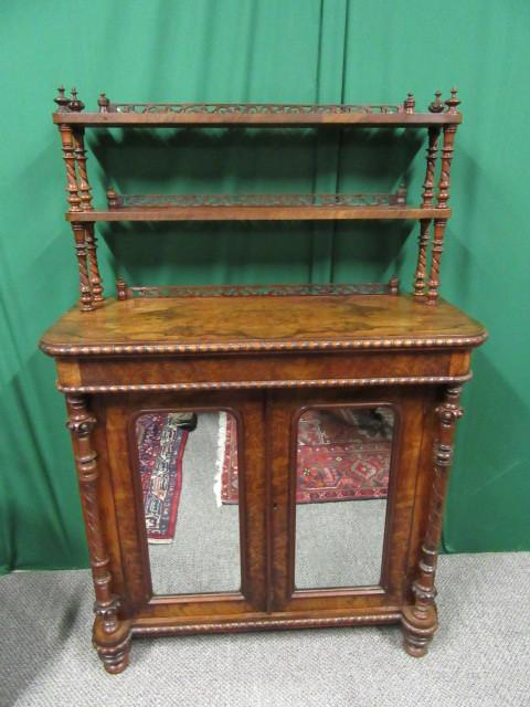 Victorian Burr walnut chiffonier