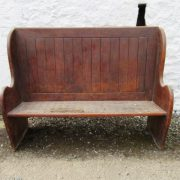 Victorian High back oak bench