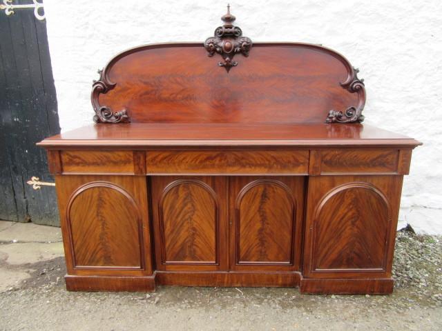 Victorian four door mahogany splashback sideboard