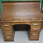 (SOLD) Victorian hi top oak roll top desk