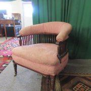 Victorian mahogany tub chair