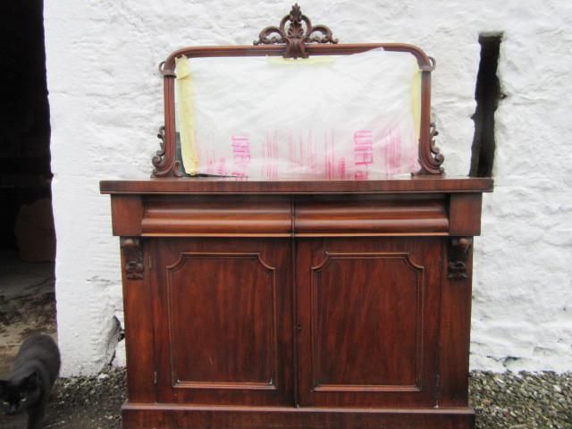 Victorian mahogany mirror back sideboard