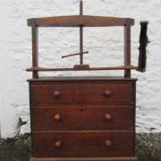 Georgian oak cloths press chest of drawers