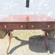 Georgian mahogany sofa table