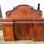 Victorian mahogany four door splash back sideboard