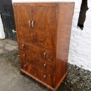 20th century burr walnut tallboy
