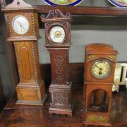 Edwardian Miniature grandfather clocks