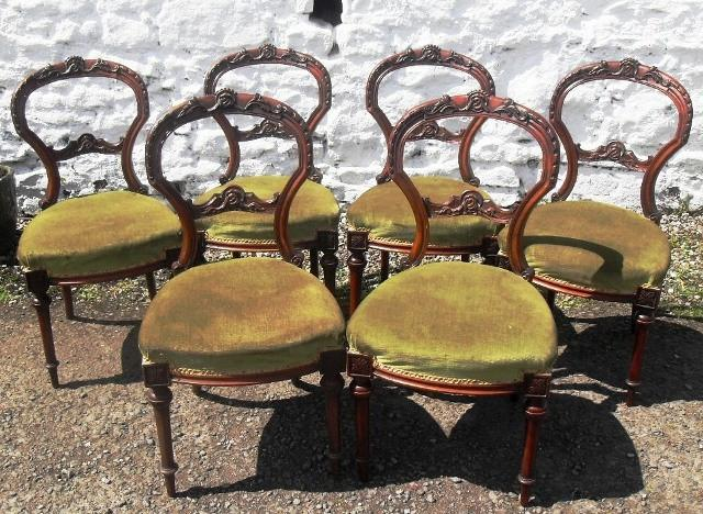 Set of 6 Victorian Mahogany chairs