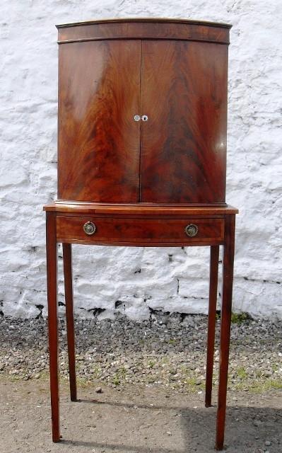 Edwardian mahogany cabinet on stand