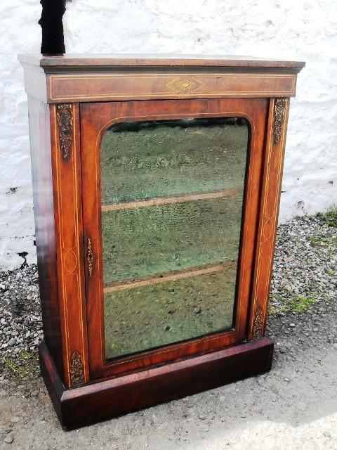 Victorian burr walnut Pier cabinet