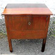 Georgian mahogany bed cabinet