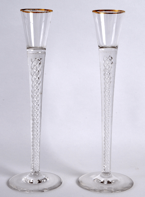 Pair of Georgian style airtwist glasses