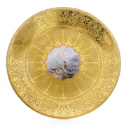 Royal Worcester Asprey, a pair cabinet plates, By James Stinton