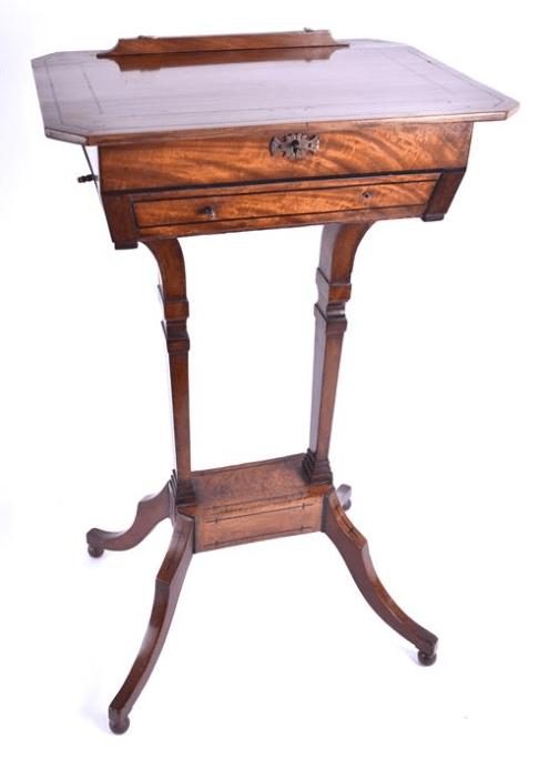 Edwardian mahogany tilt top work table