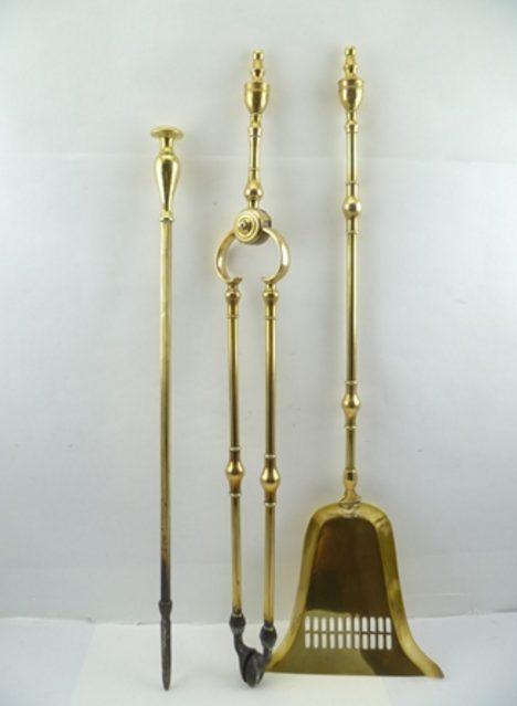 Georgian Brass Fire Irons