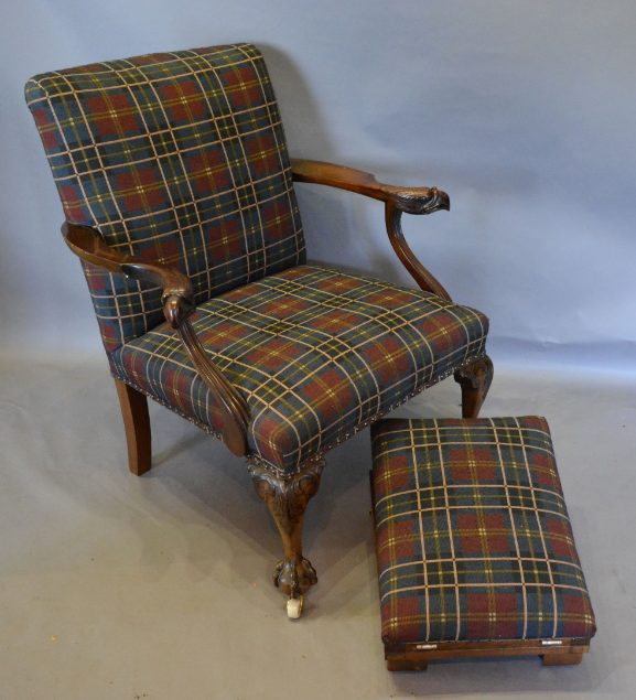 Victorian Mahogany Gainsborough Chair in the George III Style