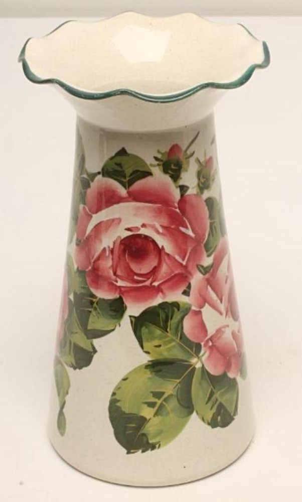 A SCOTTISH WEMYSS CYLINDRICAL VASE, c.1900, (ROSES)