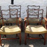 Set 6 Victorian Mahogany ladder back chairs