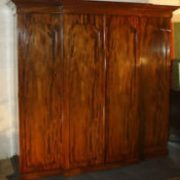 Victorian breakfront four door mahogany wardrobe