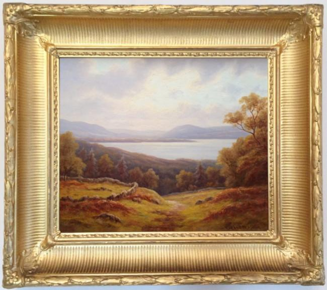 Everett Watson Mellor. (Oil on canvas) Loch Lomond